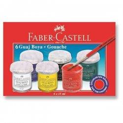 Faber Castell - Faber Castell Guaj Boya Takımı 15ml 6 Renk 5170160400