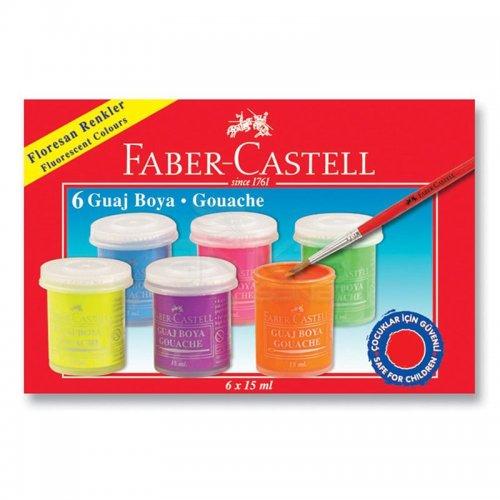 Faber Castell Neon Guaj Boya Takımı 15ml 6 Renk 5170160403