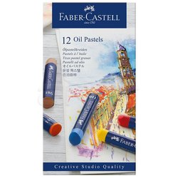 Faber Castell - Faber Castell Oil Pastel Seti 12li (1)