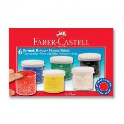 Faber Castell - Faber Castell Parmak Boyası 25ml 6 Renk 160402