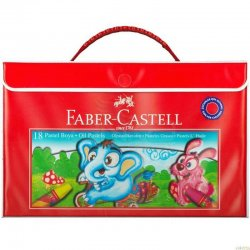 Faber Castell - Faber Castell Pastel Boya Plastik Çantalı 18 Renk 125119