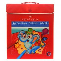Faber Castell - Faber Castell Pastel Boya Plastik Çantalı 36 Renk 125137