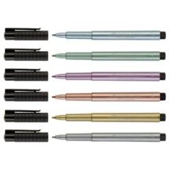 Faber Castell - Faber Castell Pitt Artist Pen Çizim Kalemi 1.5mm Metalik
