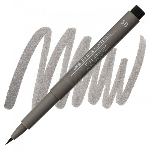 Faber Castell Pitt Artist Pen Soft Brush Warm Grey 4 SB