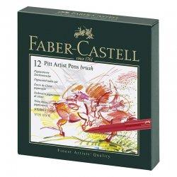 Faber Castell - Faber Castell Pitt Artist Pens Brush Marker 12li Set Studio Box (1)
