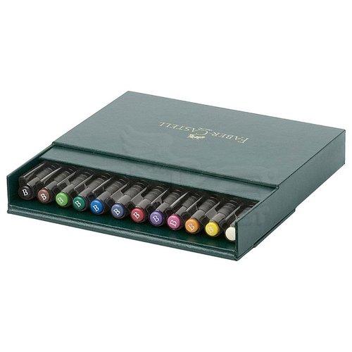 Faber Castell Pitt Artist Pens Brush Marker 12li Set Studio Box