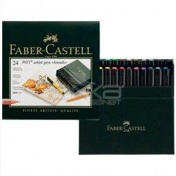 Faber Castell - Faber Castell Pitt Artist Pens Brush Marker 24lü Set Studio Box