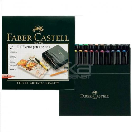 Faber Castell Pitt Artist Pens Brush Marker 24lü Set Studio Box