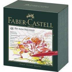 Faber Castell - Faber Castell Pitt Artist Pens Brush Marker 48li Set Studio Box (1)