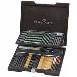Faber Castell Pitt Monochrome Set 85 Parça Ahşap Kutu 112971 - Thumbnail