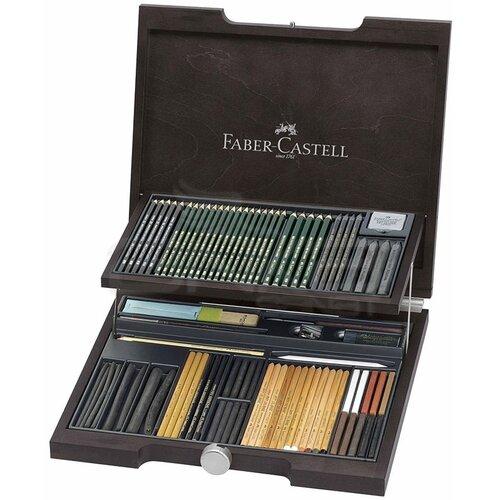 Faber Castell Pitt Monochrome Set 85 Parça Ahşap Kutu 112971