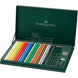 Faber Castell - Faber Castell Polychromos Colour Pencils+Castell 9000 210051 (1)