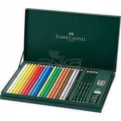 Faber Castell - Faber Castell Polychromos Colour Pencils+Castell 9000 210051 (1)