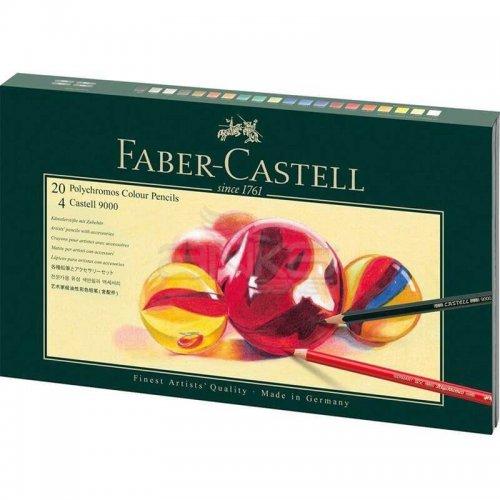 Faber Castell Polychromos Colour Pencils+Castell 9000 210051