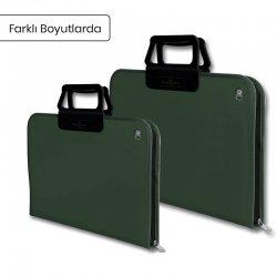 Faber Castell - Faber Castell Proje Çantası Koyu Yeşil