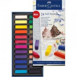 Faber Castell - Faber Castell Creative Studio Yarım Boy Soft Pastel 24lü