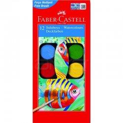 Faber Castell - Faber Castell Sulu Boya 12li Küçük Boy 5292 125011