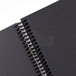 Fabio Ricci Black Siyah Çizim Defteri Spiralli 50 Yaprak 150g - Thumbnail