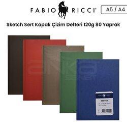 Fabio Ricci - Fabio Ricci Sketch Sert Kapak Çizim Defteri 120g 80 Yaprak