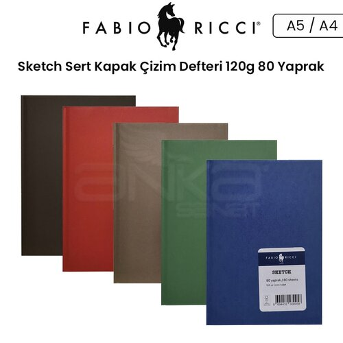 Fabio Ricci Sketch Sert Kapak Çizim Defteri 120g 80 Yaprak