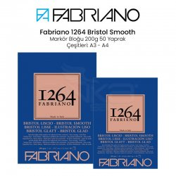 Fabriano - Fabriano 1264 Bristol Marker Defteri 200g 50 Yaprak