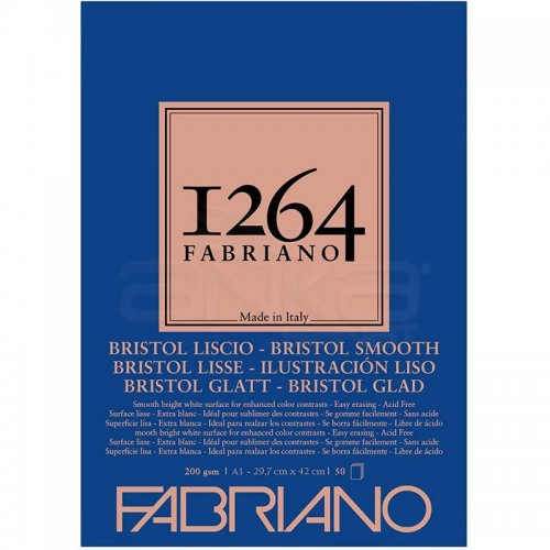 Fabriano 1264 Bristol Marker Defteri 200g 50 Yaprak