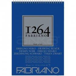 Fabriano - Fabriano 1264 Drawing Black Paper Siyah Çizim Defteri Üstten Spiralli 200g (1)