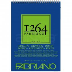 Fabriano - Fabriano 1264 Drawing Paper Çizim Defteri Üstten Spiralli 180g (1)