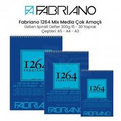 Fabriano - Fabriano 1264 Mix Media Çok Amaçlı Çizim Defteri Üstten Spiralli 300g
