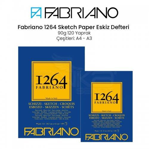 Fabriano 1264 Sketch Paper Eskiz Defteri 90g 100 Yaprak