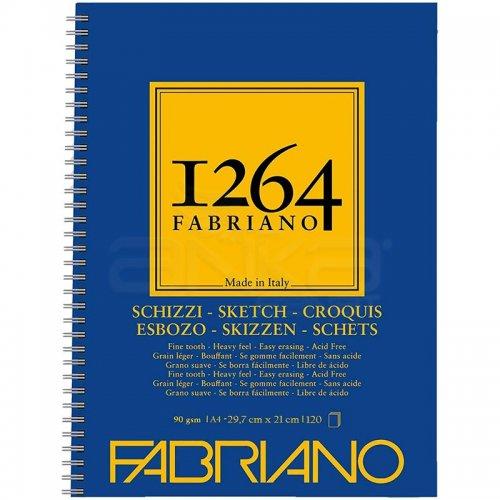 Fabriano 1264 Sketch Paper Eskiz Defteri Yandan Spiralli 90g