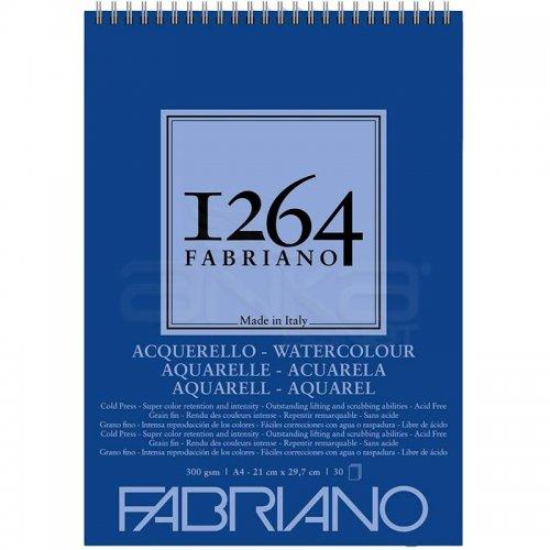 Fabriano 1264 Watercolour Sulu Boya Defteri Üstten Spiralli 300g