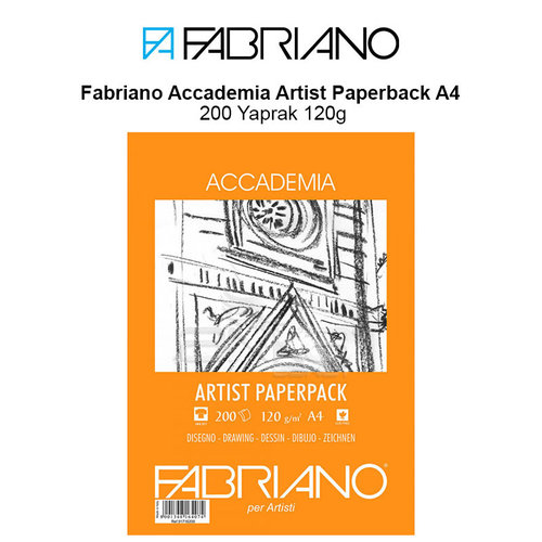 Fabriano Accademia Artist Paperback A4 200 Yaprak 120g