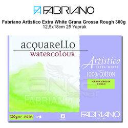 Fabriano Artistico Extra White Grana Grossa Rough 300g 12,5x18cm 25 Yaprak - Thumbnail