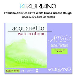 Fabriano Artistico Extra White Grana Grossa Rough 300g 23x30,5cm 20 Yaprak - Thumbnail