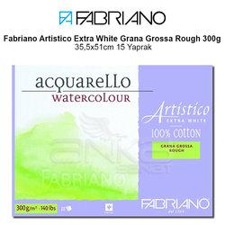 Fabriano Artistico Extra White Grana Grossa Rough 300g 35,5x51cm 15 Yaprak - Thumbnail