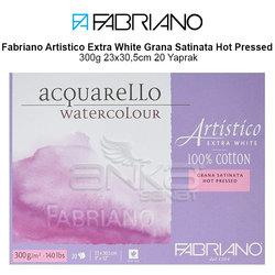 Fabriano Artistico Extra White Grana Satinata Hot Pressed 300g 23x30,5cm 20 Yaprak - Thumbnail