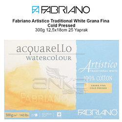 Fabriano Artistico Traditional White Grana Fina Cold Pressed 300g 12,5x18cm 25 Yaprak - Thumbnail