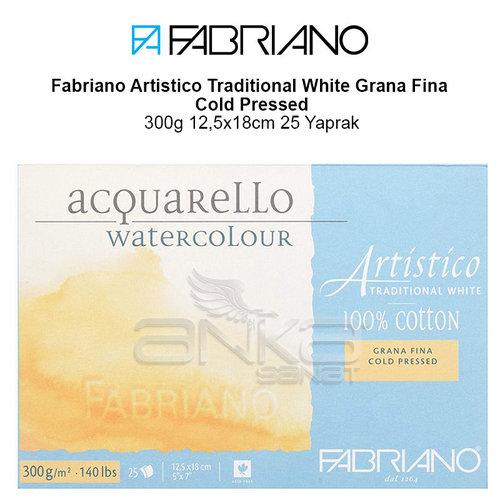 Fabriano Artistico Traditional White Grana Fina Cold Pressed 300g 12,5x18cm 25 Yaprak