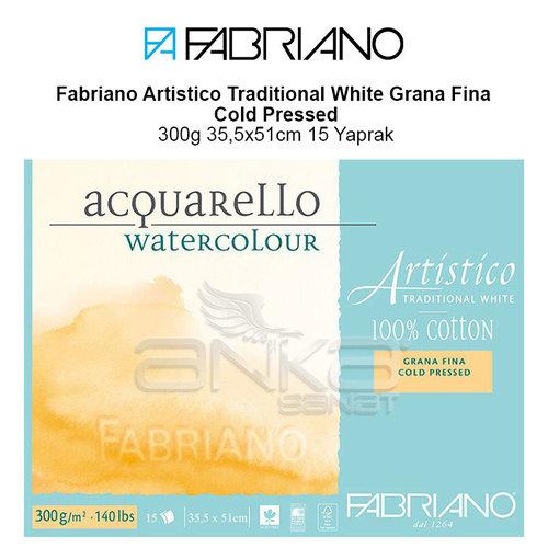 Fabriano Artistico Traditional White Grana Fina Cold Pressed 300g 35,5x51cm 15 Yaprak