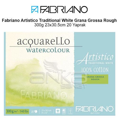 Fabriano Artistico Traditional White Grana Grossa Rough 300g 23x30.5cm 20 Yaprak