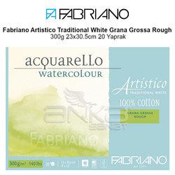 Fabriano Artistico Traditional White Grana Grossa Rough 300g 23x30.5cm 20 Yaprak - Thumbnail