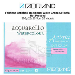 Fabriano Artistico Traditional White Grana Satinata Hot Pressed 300g 23x30,5cm 20 Yaprak - Thumbnail