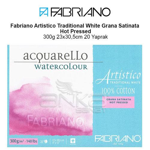 Fabriano Artistico Traditional White Grana Satinata Hot Pressed 300g 23x30,5cm 20 Yaprak