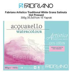 Fabriano Artistico Traditional White Grana Satinata Hot Pressed 300g 35,5x51cm 15 Yaprak - Thumbnail