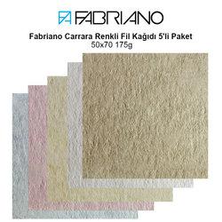 Fabriano - Fabriano Carrara Renkli Fil Kağıdı 5'li Paket 50x70 175g