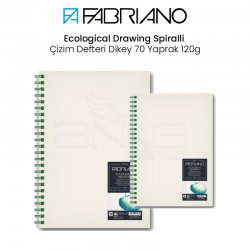 Fabriano - Fabriano Ecological Drawing Spiralli Çizim Defteri Dikey 70 Yaprak 120g