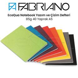 Fabriano - Fabriano EcoQua Notebook Yazım ve Çizim Defteri 85g 40 Yaprak A5