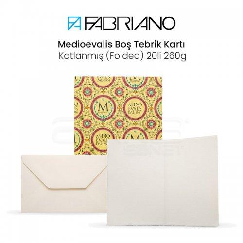 Fabriano Medioevalis Boş Tebrik Kartı Katlanmış 20li 260g 9x14cm