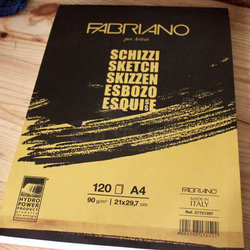 Fabriano Sketch Spiralli Çizim Defteri 90g - Thumbnail